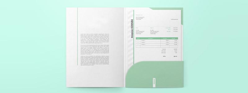 Cartelletta Portadocumenti Con Tasca Per Ufficio Flexprint