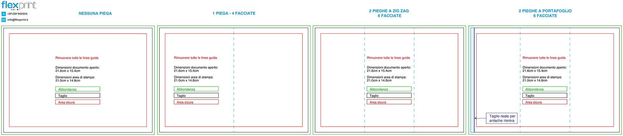 Misure Depliant 3 Ante.Le Basi Per Un Esecutivo Perfetto Flexprint